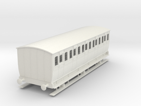 0-32-mgwr-6w-3rd-class-coach in White Natural Versatile Plastic