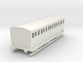 0-64-mgwr-6w-3rd-class-coach in White Natural Versatile Plastic