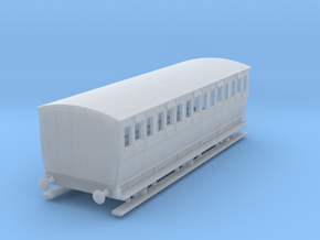 0-64-mgwr-6w-3rd-class-coach in Smooth Fine Detail Plastic