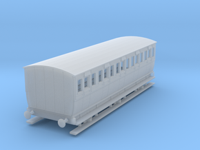 0-148fs-mgwr-6w-3rd-class-coach in Smooth Fine Detail Plastic