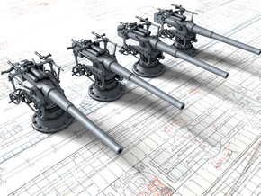 "1/350 German 8.8 cm/45 (3.46"") SK L/45 Guns x4 in Smoothest Fine Detail Plastic"