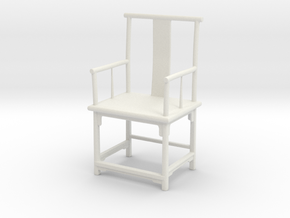 Printle Thing Chair 016 - 1/24 in White Natural Versatile Plastic