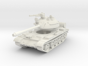 T55 A Tank 1/100 in White Natural Versatile Plastic