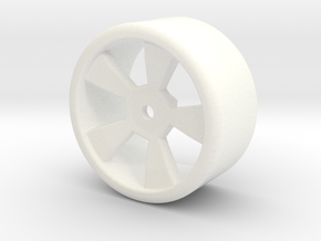 RC Drift wheel 1/10 Scale in White Processed Versatile Plastic
