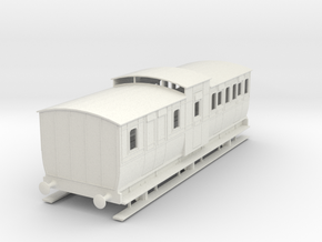 0-55-mgwr-6w-brake-3rd-coach in White Natural Versatile Plastic