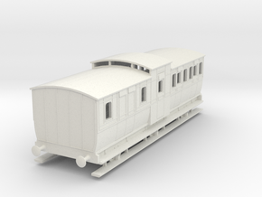 0-64-mgwr-6w-brake-3rd-coach in White Natural Versatile Plastic
