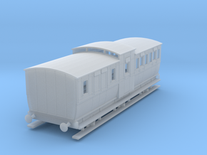 0-148fs-mgwr-6w-brake-3rd-coach in Smooth Fine Detail Plastic