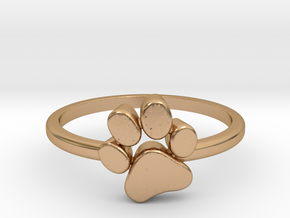 PawPrint Ring  in Polished Bronze