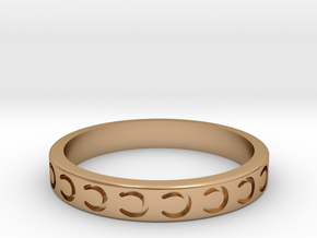 Horseshoe Stackable in Polished Bronze