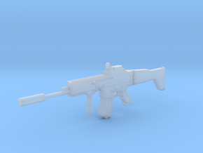 1:6 FN ScarL Assault Rifle in Smooth Fine Detail Plastic