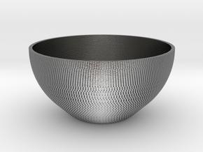 Bowl Pixels in Natural Silver