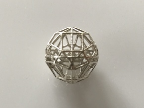 Chamelehedron M in Natural Silver