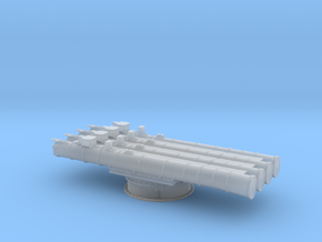 Soviet 4 tube torpedo launcher 1/200 in Smoothest Fine Detail Plastic