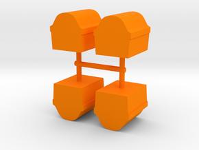 Game Piece, Treasure Chest 4-set in Orange Processed Versatile Plastic