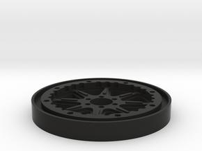 2.6 Beadlock Center 7Star in Black Natural Versatile Plastic