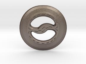 Miniature Chakram in Polished Bronzed-Silver Steel