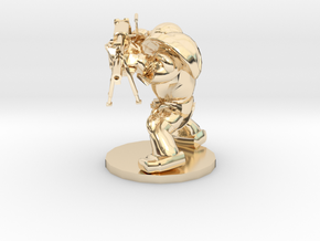 CYBORG1 MASHINEGUN in 14k Gold Plated Brass