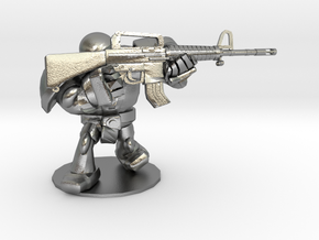 CYBORG1 ASSAULT_RIFLE M16A2 in Natural Silver