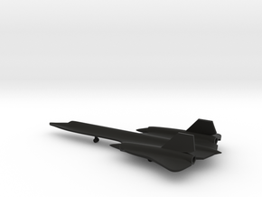 Lockheed SR-71 Blackbird in Black Natural Versatile Plastic: 1:350