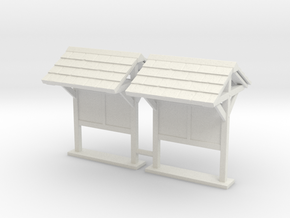Information Kiosk 01. HO Scale (1:87) in White Natural Versatile Plastic