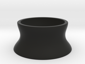 Stackable Egg Cup in Black Natural Versatile Plastic