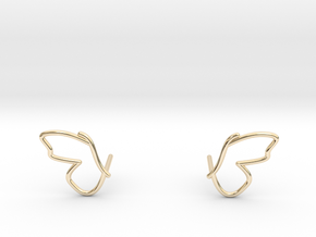 butterfly ear climber earrings in 14K Yellow Gold