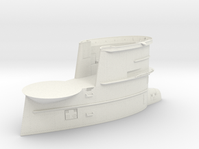 1/30 DKM U-Boot VII/C Conning Tower in White Natural Versatile Plastic