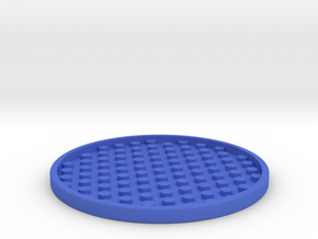Drink Coaster (2) in Blue Processed Versatile Plastic