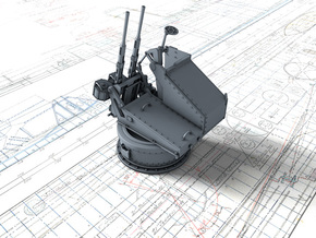 1/48 Twin 20mm Oerlikon MKV Mount Not in Use in Smooth Fine Detail Plastic