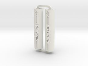 Slimline Pro NCC1701 lathe in White Natural Versatile Plastic