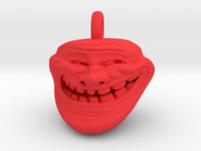 Trollface Meme Pendant necklace all materials in Red Processed Versatile Plastic