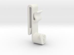 Left Hand Clip 0.6 in White Natural Versatile Plastic