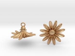 Daisies Earrings in Natural Bronze