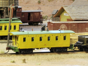 Virginia & Truckee Miner's Caboose N Scale in Smooth Fine Detail Plastic