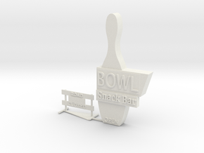 HO Scale Signs 2 in White Natural Versatile Plastic