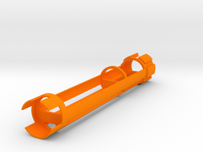"""Saberforge 28mm/1.1"""" RB 18650 Spear Chassis in Orange Processed Versatile Plastic"""