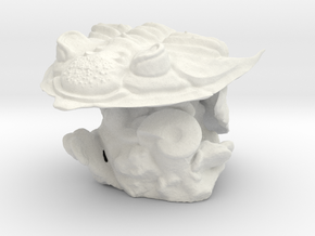 Trilobite -Huntonia Lingulifer with Ammonite stand in White Natural Versatile Plastic