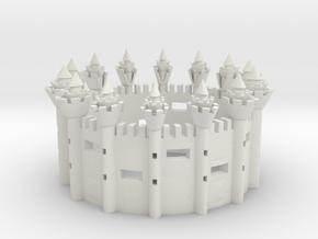 CASTLE RING  in White Natural Versatile Plastic
