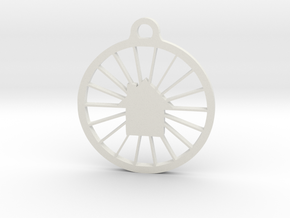 B&B Keychain in White Natural Versatile Plastic
