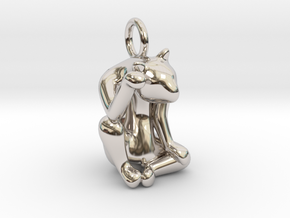 cat_011 in Rhodium Plated Brass