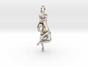 cat_012 in Rhodium Plated Brass