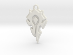 World Of Warcraft Horde Pendant all materials in White Natural Versatile Plastic