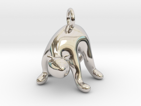 cat_015 in Rhodium Plated Brass