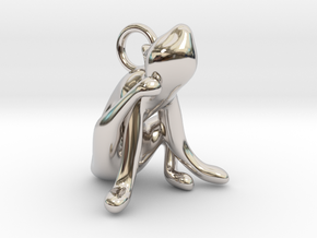 cat_019 in Rhodium Plated Brass