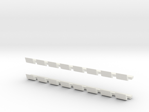New York Subway R10 Roof Vents in White Natural Versatile Plastic