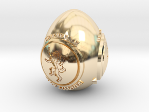 GOT House Lannister Easter Egg in 14k Gold Plated Brass