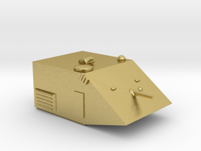 Panther Medium Grav Tank 25mm in Natural Brass