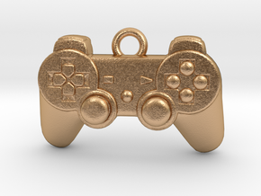 PlayStation Controller Pendant all materials gamer in Natural Bronze