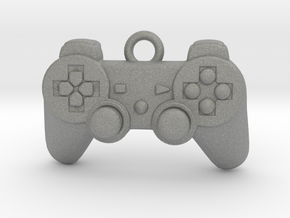 PlayStation Controller Pendant all materials gamer in Gray PA12