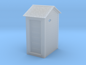 HO Great Northern Single Privy with Vent Screens in Smooth Fine Detail Plastic